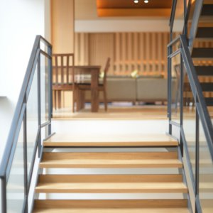 Hachi Entrance stairs