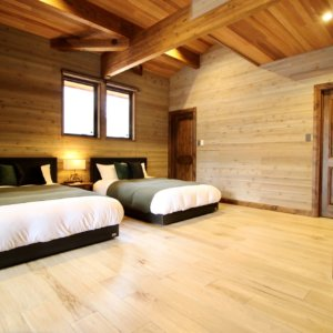 Bed Room With Green Stool