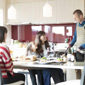 マウンテンサイド白馬で料理 家族時間